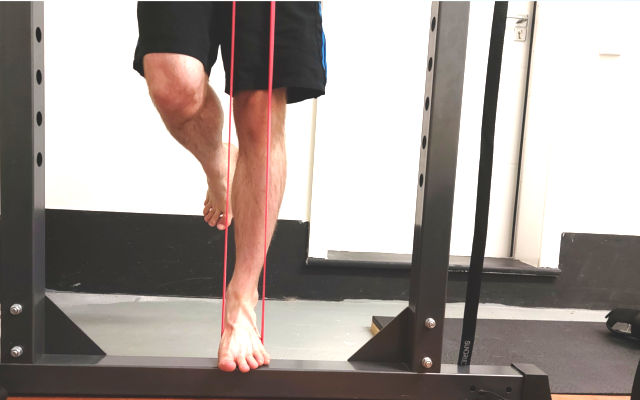 banded unilateral calf raise