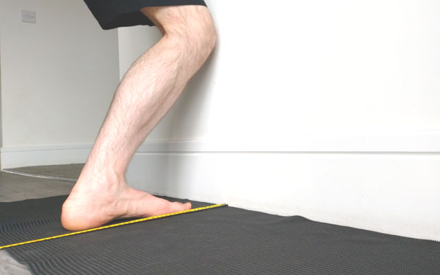 ankle dorsiflexion wall test